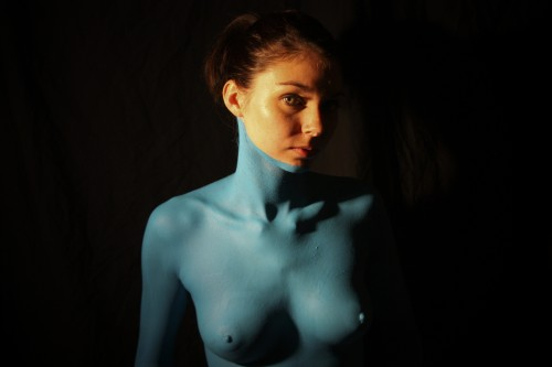 Smurfette 4 - nude portrait of a woman