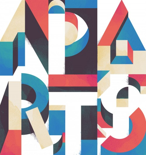 poster for friends of type by damien correll