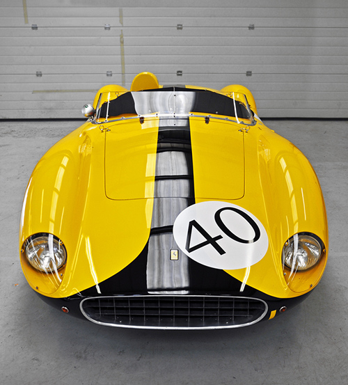 ferrari in yellow and black racing livery
