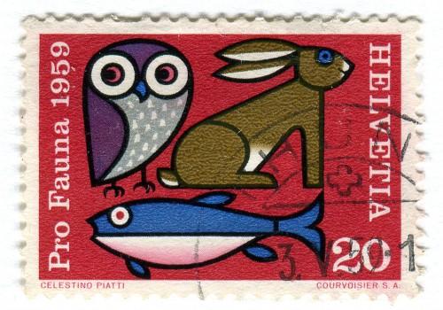 Switzerland Postage Stamp - Pro Fauna