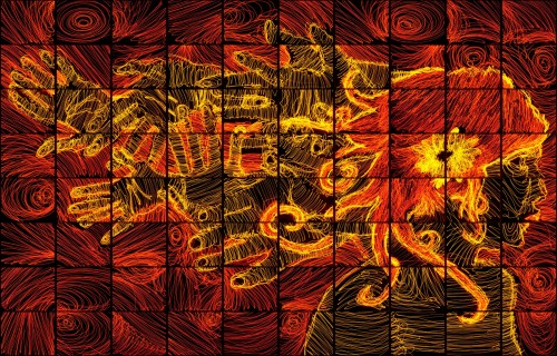 Light painting mosaic by Brian Matthew Hart