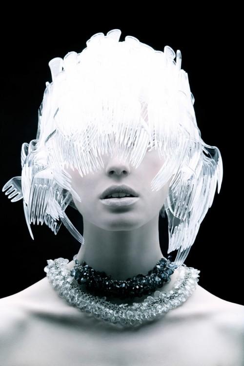 Plastic fork headress - Plastic Fantastic