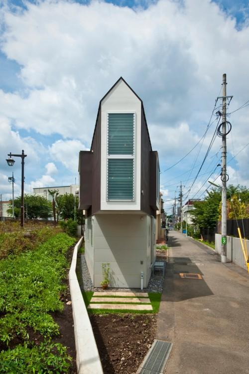 Exterior of narrow house