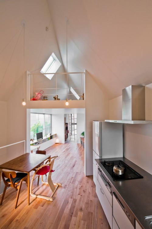 First storey interiors of narrow house