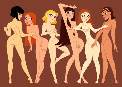 Naked Girls by XAV-Drawordie
