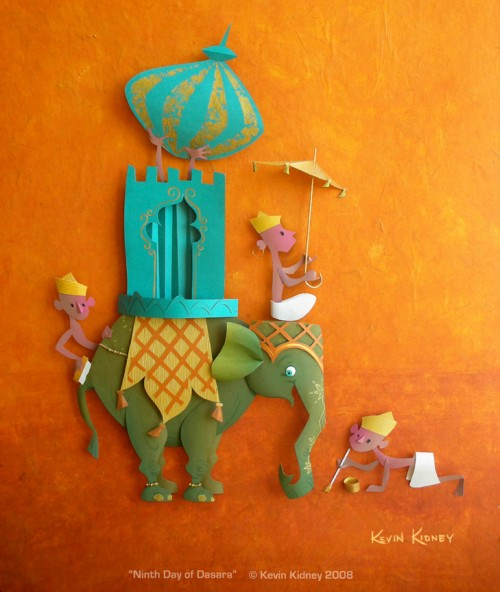 Indian elephant art - paper sculpture