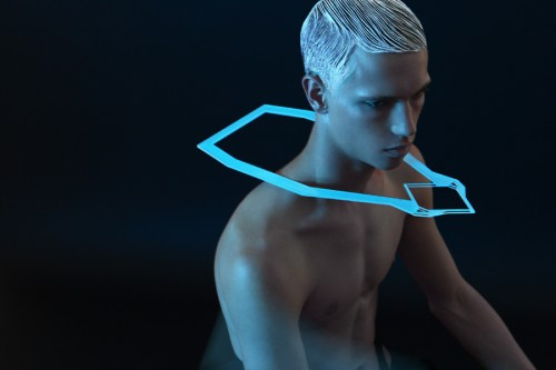 Futuristic men's jewellery design by Yoolhee Ko