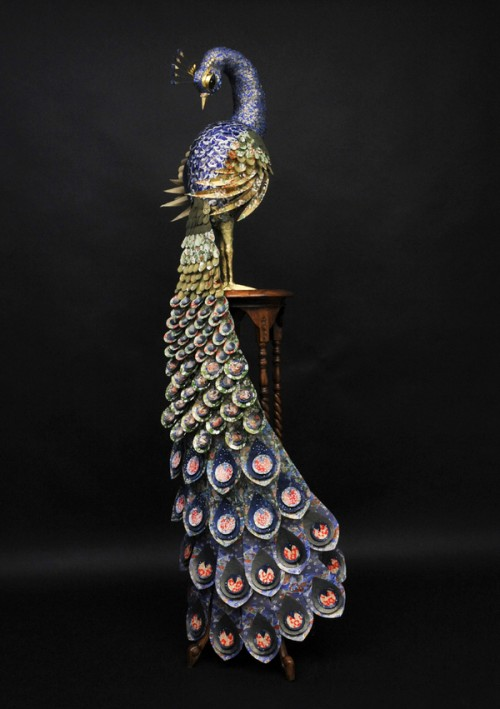 Peacock paper sculpture - The Makerie