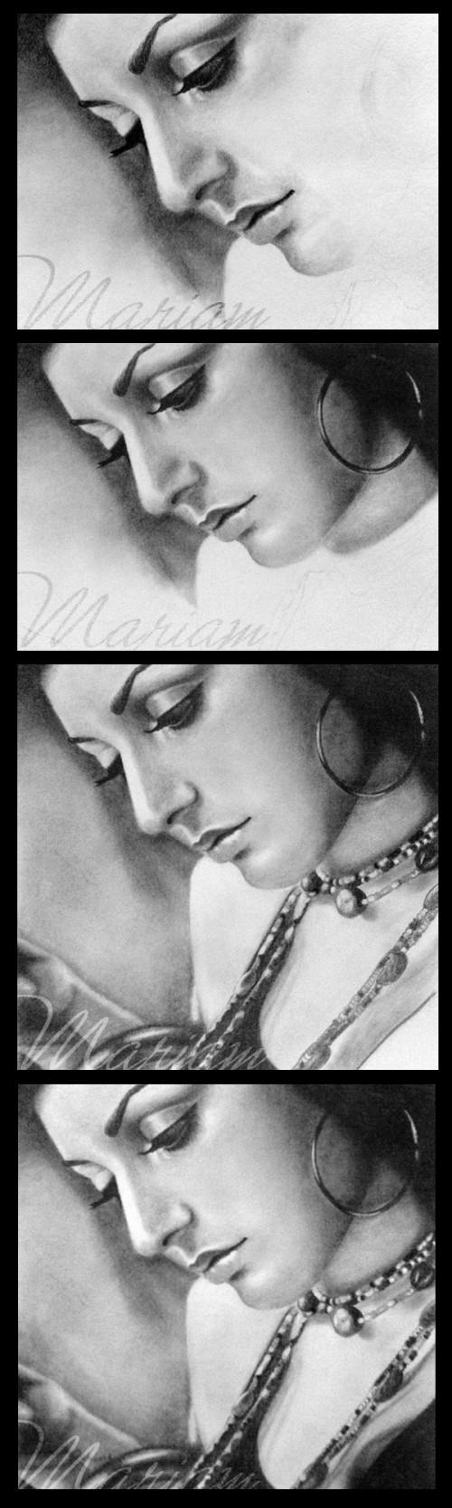 Googoosh - pencil portrait - Work-In-Progress