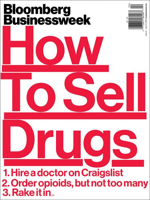 How to Sell Drugs -- cover of Bloomberg Businessweek