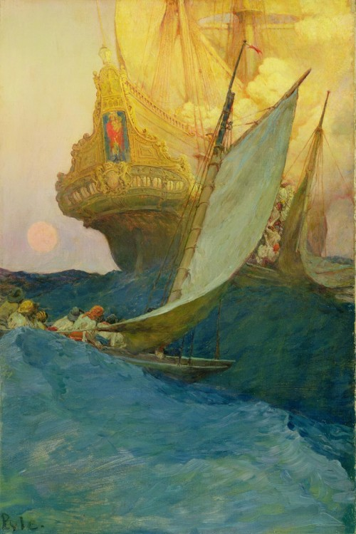 Attack on the Galleon by Howard Pyle