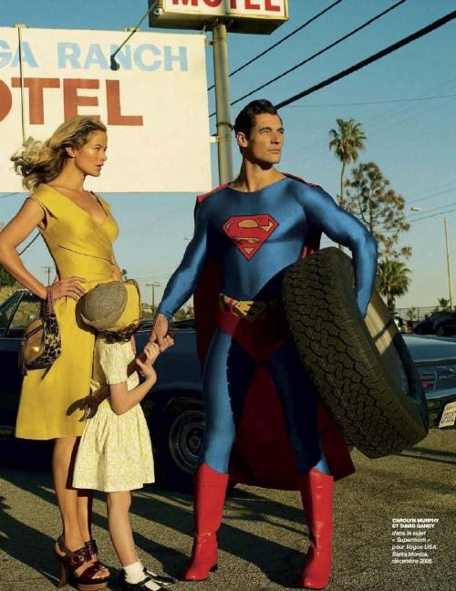 Carolyn Murphy, and David Gandy as Superman