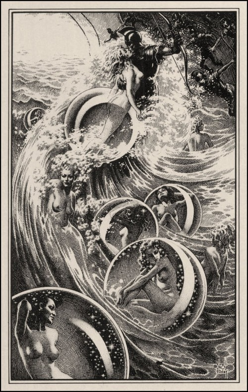 The Ship of Ishtar by Virgil Finlay
