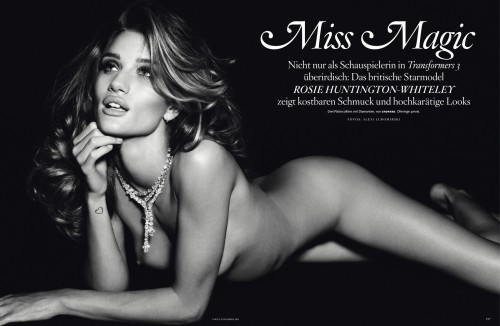 Rosie Huntington-Whiteley by Alexi Lubomirski for Vogue