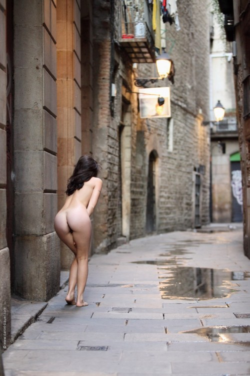 naked in the streets of Barcelona