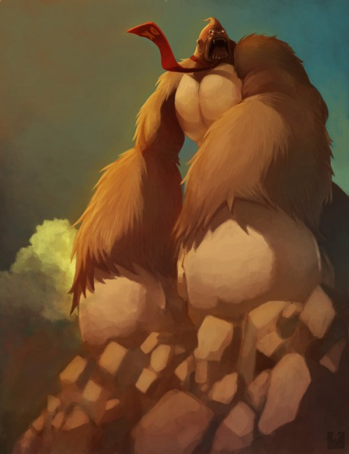 Donkey Kong digital art by Ryan Shiu