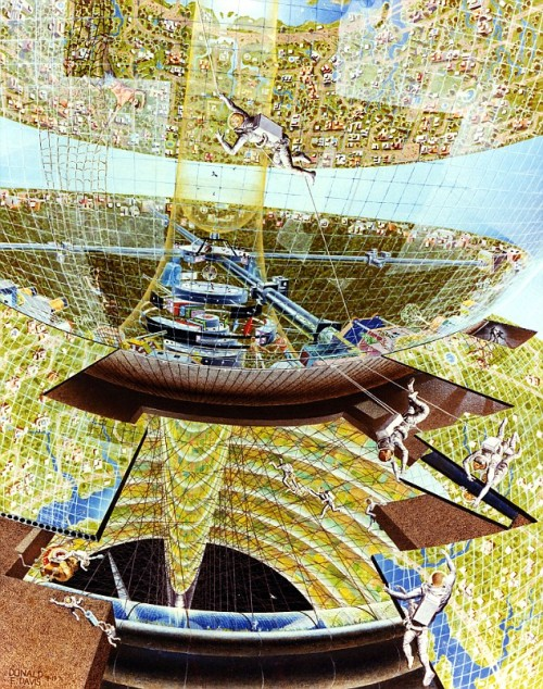 Future space habitation by Donald E. Davis, 1975