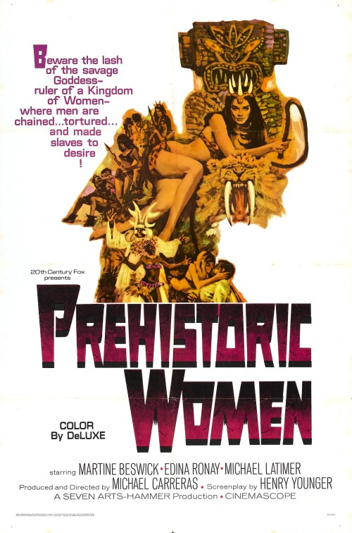 Poster for Prehistoric Women (aka Slave Girls) (1967, UK)